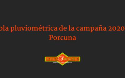 Resumen pluviométrico en Porcuna (campaña 2020/21)